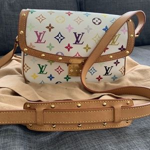 Multicolor Louis Vuitton Sologne crossbody